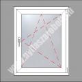 5 kamrás egyszárnyú műanyag ablak  bukó-nyíló szárnnyal