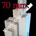 Tokszélesítő profilok fehér színben 70 mm széles Platinium vagy Prolux profilhoz