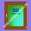 Oknoplast Prolux 6 kamrás egyszárnyú műanyag ablak bukó-nyíló szárnnyal