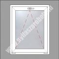 5 kamrás egyszárnyú műanyag ablak bukó szárnnyal