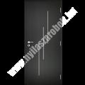 Dekorfóliás aluminium-intarziás belső ajtó - Line 1