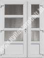 Szárnyosztott /tele - fehér műanyag bejárati ajtó online