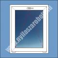 6 kamrás egyszárnyú műanyag ablak bukó szárnnyal