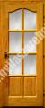 Fenyő íves üveges beltéri ajtó