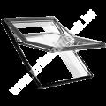 R75 K -kétrétegű üveg műanyag tokkal alsó kilinccsel Uw=1.3-1.4 W/m2K