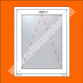 Bukó ablak - 80mm 6 kamrás PVC profilból